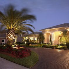Landscape lighting the entrance of a property | JC Enterprise Services | Flickr