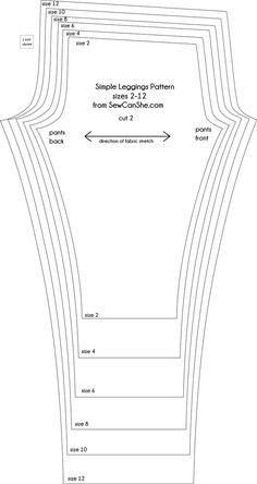 Basic leggings tutorial and free pattern!