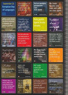 26th September, European Day of Languages