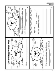 Cute Groundhog Day booklet at themailbox.com and it's FREE!