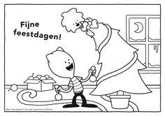 Feestdagen-kleurplaat. Op school ook leuk te gebruiken als placemat voor tijdens het kerstdiner/kerstontbijt in de klas.  Kleurplaten in hogere kwaliteit zijn te downloaden en printen vanaf www.borre.nl. Klik daar op 'Doen'.