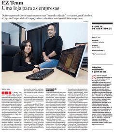 Mais uma vez, a Ez-Team foi NOTÍCIA! Desta vez no JORNAL DE NEGÓCIOS...    Versão PDF em:  http://ez-team.com/press/Ez-Team_Jornal_de_Negocios_1.pdf
