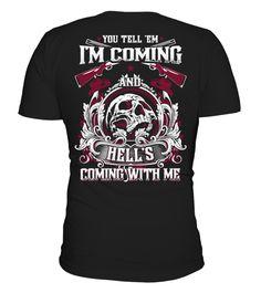 T shirt  [Back] Hell's Coming With Me  fashion trend 2018 #tshirt, #tshirtfashion, #fashion