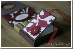 Adorable!  Wine tag, chocolate holder, and card all in one!