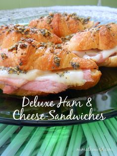 Num's the Word: Looking for an easy appetizer or tasty lunch? Whip up these scrumptious Deluxe Ham and Cheese sandwiches. Guaranteed a hit!