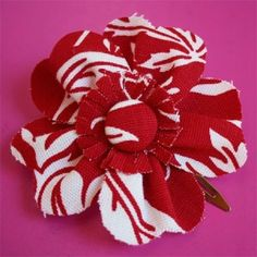 Fabric flower tutorial. by shabnamferoz