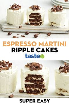 With Choc Ripple biscuits and coffee-flavoured liqueur, this recipe is a perfect after-dinner treat (for adult's only). Sweet Desserts, Just Desserts, Sweet Recipes, Delicious Desserts, Health Desserts, Xmas Food, Christmas Cooking, Baking Recipes, Cake Recipes