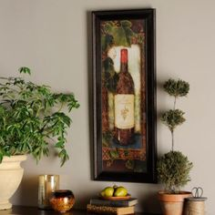 Our Noble Vineyard I Framed Art Print is a great artwork for your kitchen or wine cellar! Showcasing a wine bottle, this print is finished in an ornate frame. Wine Wall Art, Framed Wall Art, Framed Art Prints, Art Encadrée, Kirkland Home Decor, Candle Sconces, Wall Lights, Gallery Wall, Wall Decor