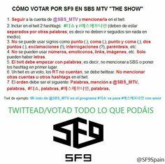 Esta es la manera en la que pueden votar por SF9 en SBS. 💕😆