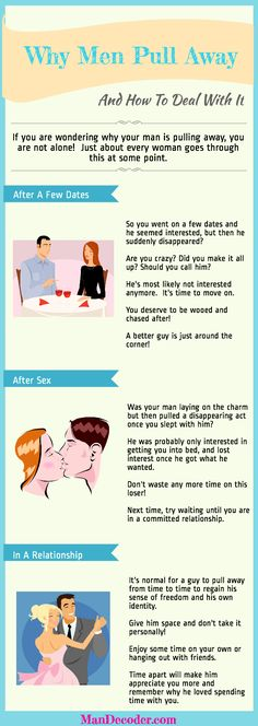 Why Men Pull Away And How To Deal With It #Infographic