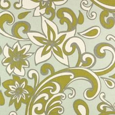 Premier Fabric-Loni Porcelain Blue/Natural-dull light green and dull light blue