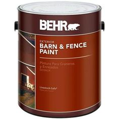 BEHR 1-gal. Red Exterior Barn and Fence Paint-02501 - The Home Depot