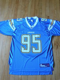 31160d543ca Shaun Phillips Authentic Powder Blue #95 San Diego Chargers Jersey Chargers  Nfl, San Diego