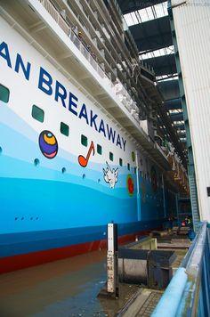 Norwegian Breakaway - Ausdocken Haelfte 13