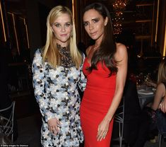 Top honorees: Reese Witherspoon and Victoria were among the Women Of The Year honorees