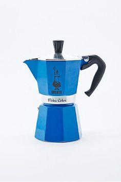 Bialetti Moka Express Hob Espresso Maker in Blue
