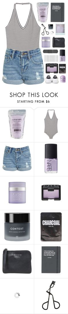 """""""「58.」"""" by moonbeam-s ❤ liked on Polyvore featuring MANGO, NARS Cosmetics, Kate Somerville, Context, Lapcos, Acne Studios, Topshop, adidas, bodysuit and abbyvia"""