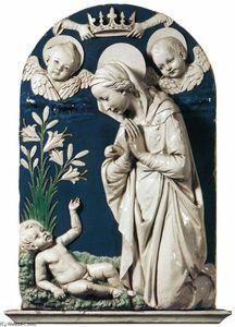 """Adoration of the Child"""", Terracotta by Andrea Della Robbia (1435 ..."""