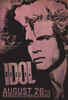 Billy Idol Concert Poster https://www.facebook.com/FromTheWaybackMachine