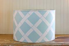 Fresh Aqua Drum Lampshade by Sassyshades on Etsy, $75.00