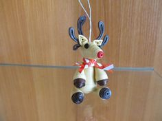 Items similar to Rudolph the red nosed reindeer, Christmas ornament, Christmas decoration on Etsy Quilling Dolls, Quilling Animals, Quilling Paper Craft, Quilling Patterns, Quilling Designs, Paper Quilling, Paper Crafts, Christmas Tree Decorations, Christmas Ornaments