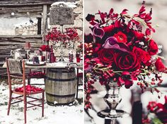 Winter Wedding Ideas: Red + Purple Inspiration    {Samantha Erin Photography}  www.samanthaerinphotography.com/blog
