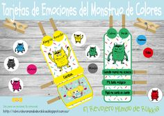 actividades-monstruo-colores Spanish Colors, Monster Games, Colors And Emotions, Technology Integration, Les Sentiments, Creative Teaching, Emotional Intelligence, School Projects, Preschool Activities