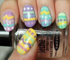 Easy Easter Manicure Nail-Art Tutorial & Photos