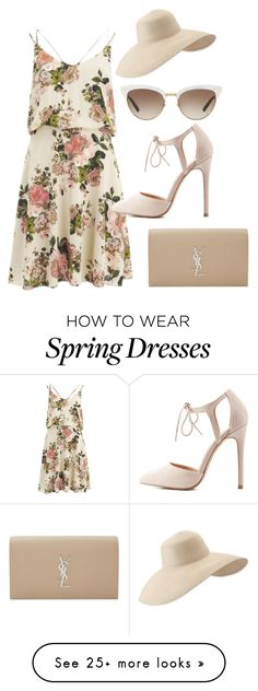 """Summer Dress"" by sillycatgrl on Polyvore featuring VILA, Yves Saint Laurent, Eric Javits, Gucci and Charlotte Russe"