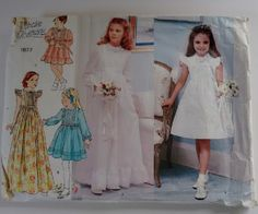 Vintage 1970's Little Vogue 1877 Flower Girl Bridesmaid Dress Pattern by CartrefEclectig on Etsy