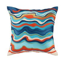 Modern Abstract Waterflow Pillow By Trina Turk