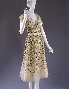 Dior 'Vilmiron' Dress - SS 1952 - House of Dior (French, founded 1947) - Design by Christian Dior (French, 1905-1957) - Silk, nylon