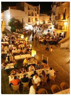 Restaurants on Plaza de Vila, Dalt Vila #ibiza #daltvila #restaurants