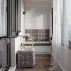 На данном изображении может находиться: в помещении Apartment Balcony Decorating, Apartment Interior Design, Interior Design Living Room, Small Balcony Design, Small Balcony Decor, Home Room Design, House Rooms, Home Decor Styles, Decoration