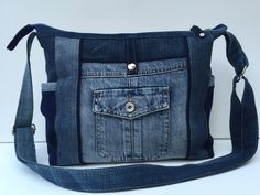 Jeans Upcycling  B 35cm x H 30cm x T8cm,