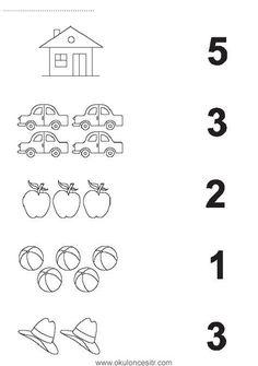 Number matching worksheet cards and preschool kindergarten . - Szilvia Szabó - Welcome to Pin World Printable Preschool Worksheets, Kindergarten Math Worksheets, Preschool Kindergarten, Math Literacy, Preschool Writing, Numbers Preschool, Teaching Numbers, Preschool Learning Activities, Preschool Curriculum
