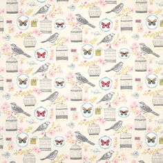 Browse our collection of floral fabric from Terrys today. Find the ideal floral fabric and transform your home for less. Cream Curtains, Floral Curtains, Floral Fabric, Floral Prints, Curtain Material, Curtain Fabric, Natural Curtains, Classic Curtains, Bird Illustration