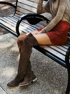 Free People Carlisle Suede Over the Knee Boot, zł 915.48