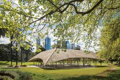 "The third iteration of the Naomi Milgrom Foundation's MPavilion, designed by Studio Mumbai, aimed to ""capture the spirit of the place,"" providing spaces for repose and contemplation on the edge of the Queen Victoria Gardens in Melbourne."