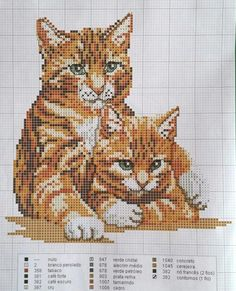 Cats Cat Cross Stitches, Cross Stitching, Beaded Cross Stitch, Cross Stitch Embroidery, Cross Stitch Designs, Cross Stitch Patterns, Bordados E Cia, Cross Stitch Boards, Dog Crafts
