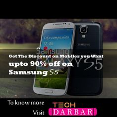 Now Get upto 90% Discount on mobiles . To know more visit Tech darbar