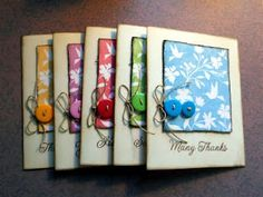 beautiful set of cards using one stamp (plus a few sentiments)