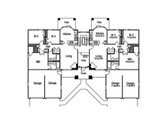 Pasadena Multi-Family Home Plan 007D-0022 | House Plans and More