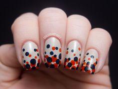 Chalkboard Nails: Gradient Dot Manicure