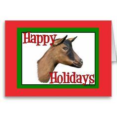 Oberhasli Goat Holiday Christmas Cards   #goat #GetYerGoat #goatlady #Christmas #oberhasli