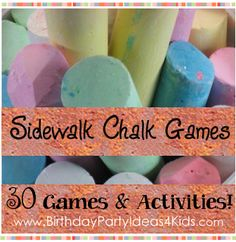 Sidewalk Chalk games and activities.  They keep saying 'kids', but I kind of want to play.