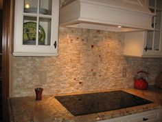 rock backsplash | Split stone backsplash