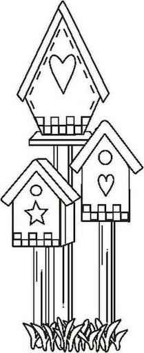 ideas house drawing ideas coloring pages for 2019 Wool Applique, Applique Patterns, Applique Designs, Embroidery Applique, Embroidery Stitches, Quilt Patterns, Embroidery Designs, Pintura Country, Country Paintings