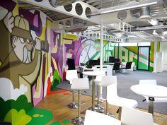 5 murais ilustrados de escritórios! | Choco la Design