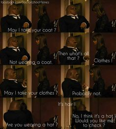''May I take your coat'' -- Strax, ''Not wearing a coat...'' -- Clara; Doctor Who.08E01 - ''Deep Breath'' (Doctor Who - BBC Series) source: Doctor Who Memes